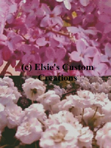 Elsie's Lilacs With Babies Breath - PDF Cross Stitch Pattern