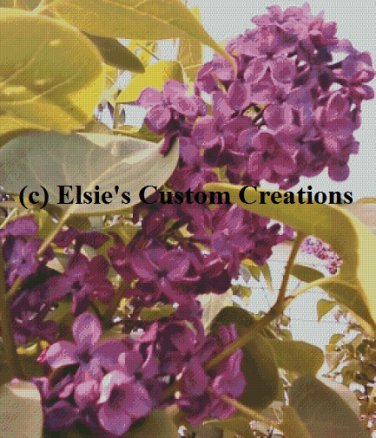Elsie's Lilacs 2 - PDF Cross Stitch Pattern