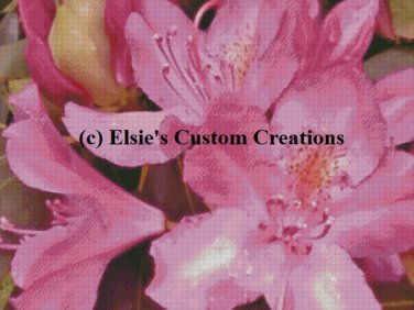 Rhododendron 4 - PDF Cross Stitch Pattern