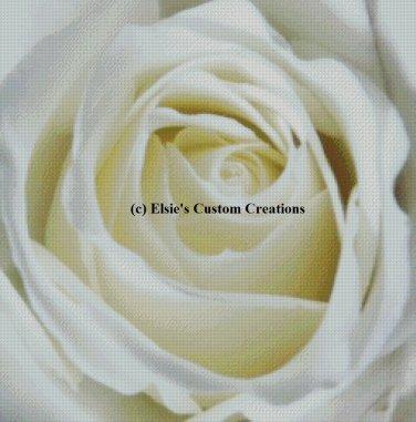 White Rose 1 - PDF Cross Stitch Pattern