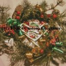 Merry Christmas Wreath 1 - PDF Cross Stitch Pattern