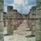 Chichen Itza Mexico Ruins 1 - PDF Cross Stitch Pattern