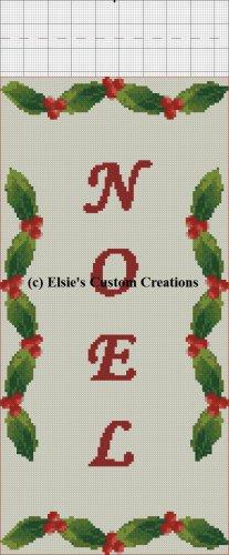 Noel Christmas Stocking - PDF Cross Stitch Pattern