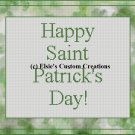 Happy Saint Patrick's Day - PDF Cross Stitch Pattern