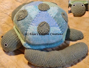 Sera The Sea  Turtle - PDF Knitting Pattern