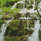 Balkans Plitvice Waterfall 1 - PDF Cross Stitch Pattern