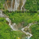 Balkans Plitvice Waterfall 5 - PDF Cross Stitch Pattern