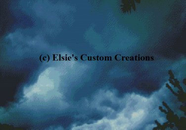 Stormy Skies 1 - PDF Cross Stitch Pattern