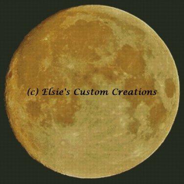 Super Moon Yellow - PDF Cross Stitch Pattern