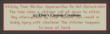 Stitchy Time - PDF Cross Stitch Pattern