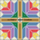4 Block Quilt Flower Bouquet 1 - PDF Cross Stitch Pattern