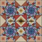 4 Block Quilt Flying Swallows 1 - PDF Cross Stitch Pattern