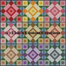 9 Block Quilt Flower Garden 1 - PDF Cross Stitch Pattern