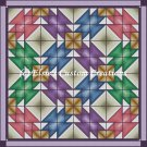 Full Size Quilt Colorful Anvils - PDF Cross Stitch Pattern