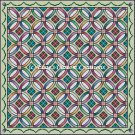 Full Size Quilt Double Wedding Ring - PDF Cross Stitch Pattern