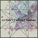Watercolor Quilt Block 15 - PDF Cross Stitch Pattern