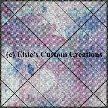 Watercolor Quilt Block 18 - PDF Cross Stitch Pattern