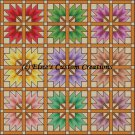 Full Size Quilt Maple Leaves - PDF Cross Stitch Pattern