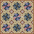 Full Size Quilt Spiral Pinwheel 2 - PDF Cross Stitch Pattern