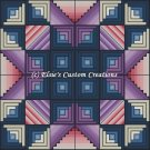 Full Size Quilt 8 Point Star Log Cabin - PDF Cross Stitch Pattern