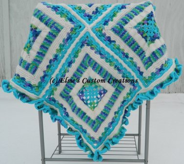 Reversible TuniCroKnit Afghan - PDF Knitting, Crochet AND Tunisian Pattern