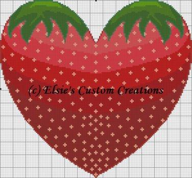 Strawberry Heart - PDF Cross Stitch Pattern