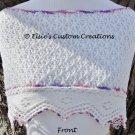 English Mesh Lace Cowl Shawl - PDF Knitting Pattern
