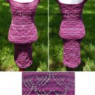 Purple Lotus Lace Dress - PDF Knitting Pattern