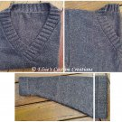 Universal V-Neck Sweater - PDF Knitting Pattern