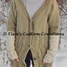 Desert Sands Button-Down Jacket - PDF Knitting Pattern