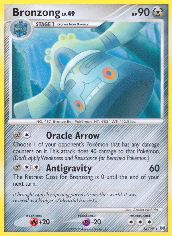 Pokemon Platinum Arceus Rare Card Bronzong 14/99