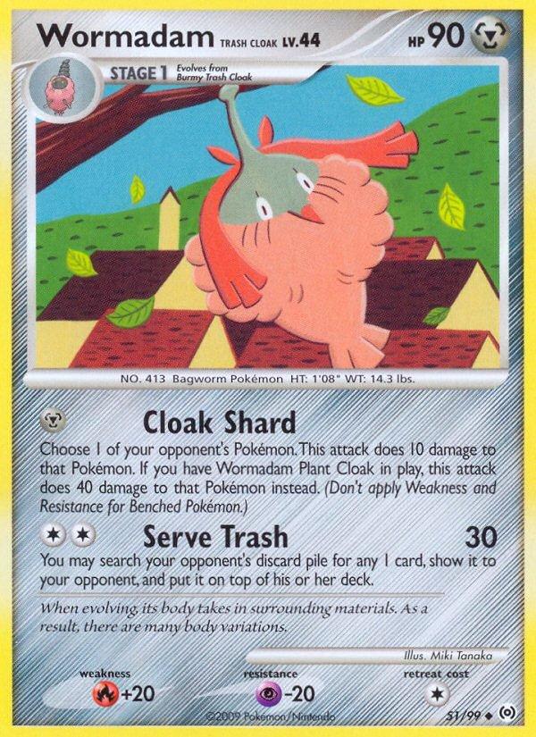 Pokemon Platinum Arceus Uncommon Card Wormadam Trash Cloak 51/99