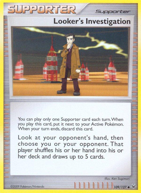 Pokemon Platinum Uncommon Card Looker's Investigation 109/127