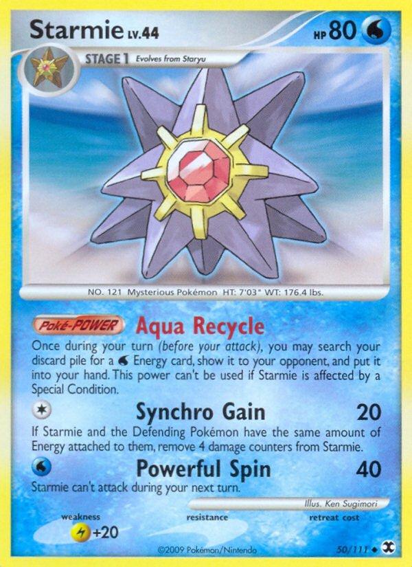 Pokemon Rising Rivals Uncommon Card Starmie 50/111