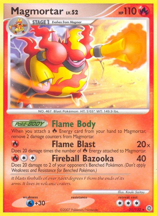 Pokemon Secret Wonders Rare Card Magmortar 31/132