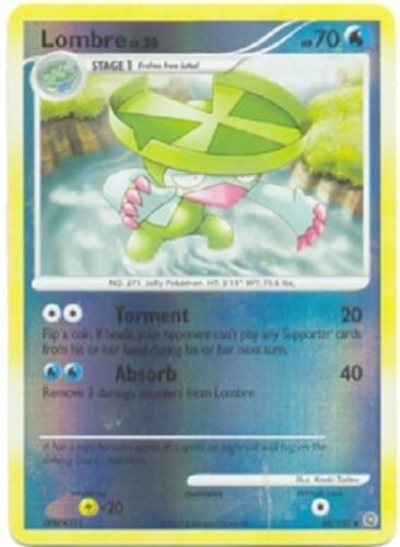 Pokemon Diamond & Pearl III Secret Wonders Single Card Reverse Holofoil Uncommon Lombre 54/132