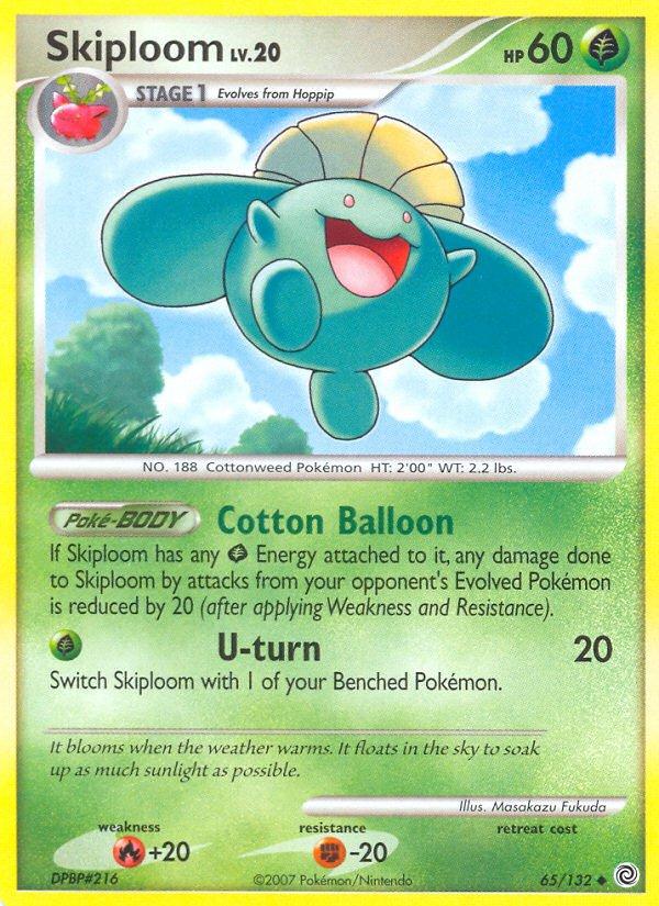Pokemon Secret Wonders Uncommon Card Skiploom 65/132