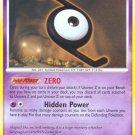 Pokemon Secret Wonders Uncommon Card Unown Z 72/132