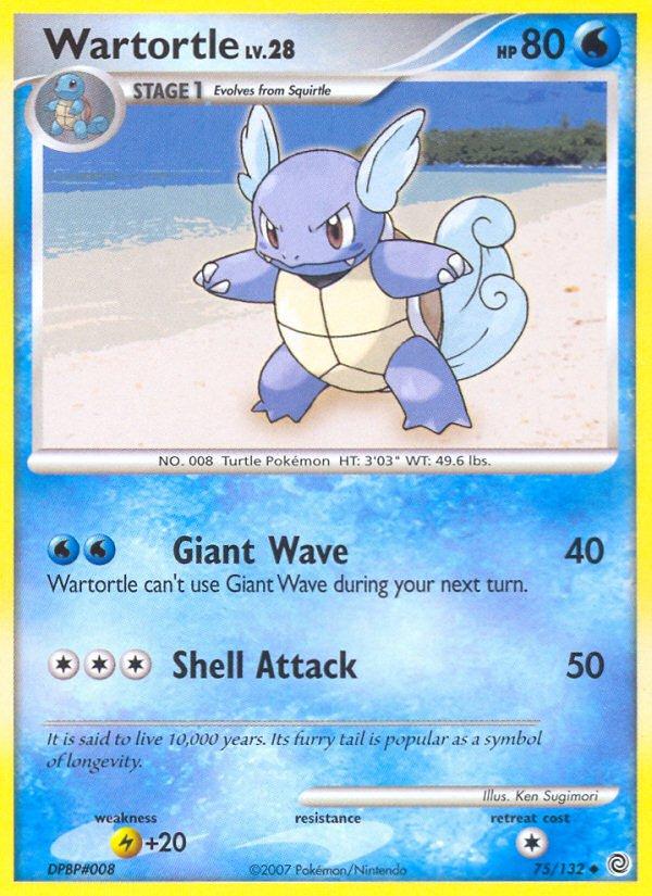 Pokemon Secret Wonders Uncommon Card Wartortle 75/132