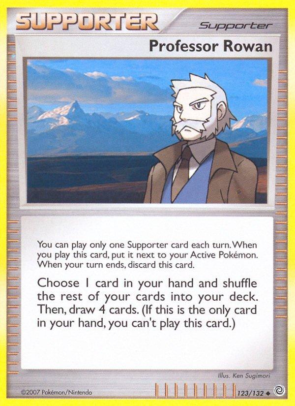 Pokemon Secret Wonders Uncommon Card Professor Rowan 123/132