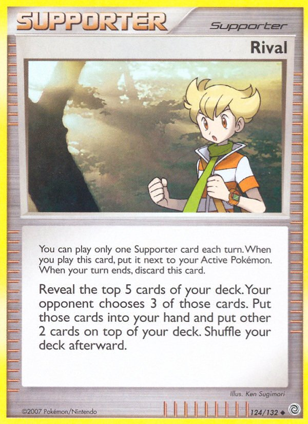 Pokemon Secret Wonders Uncommon Card Rival 124/132