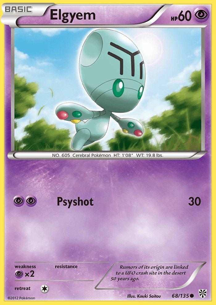 Pokemon Plasma Storm Common Card Elgyem 68/135