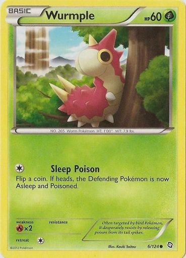 Pokemon Dragons Exalted Common Card Wurmple 6/124