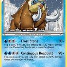 Pokemon Plasma Storm Rare Card Mamoswine 28/135