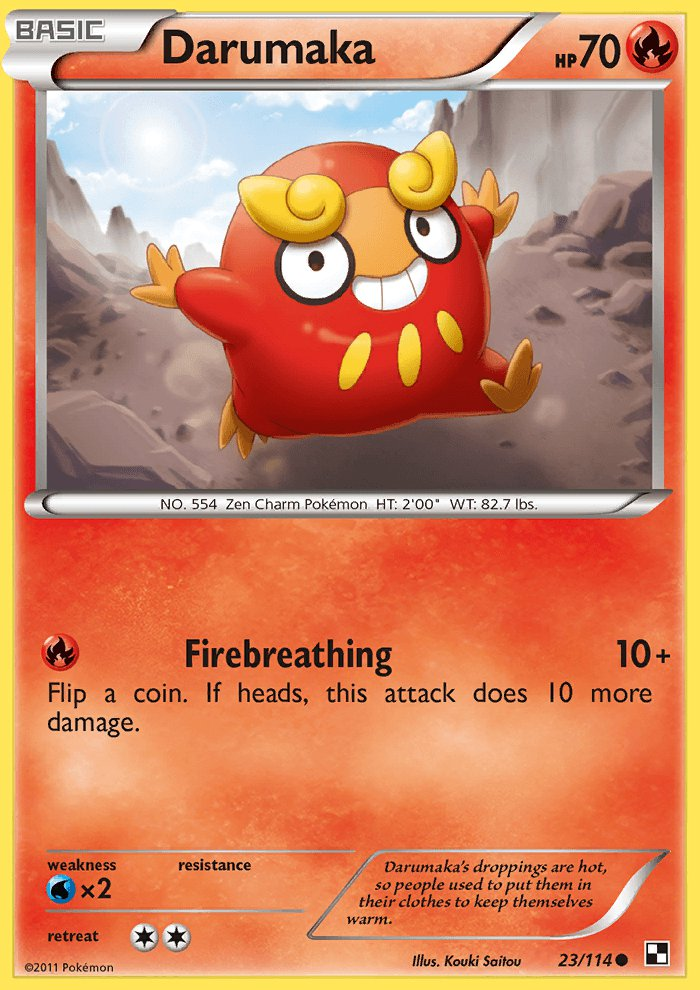 Pokemon Black & White Common Card Darumaka 23/114