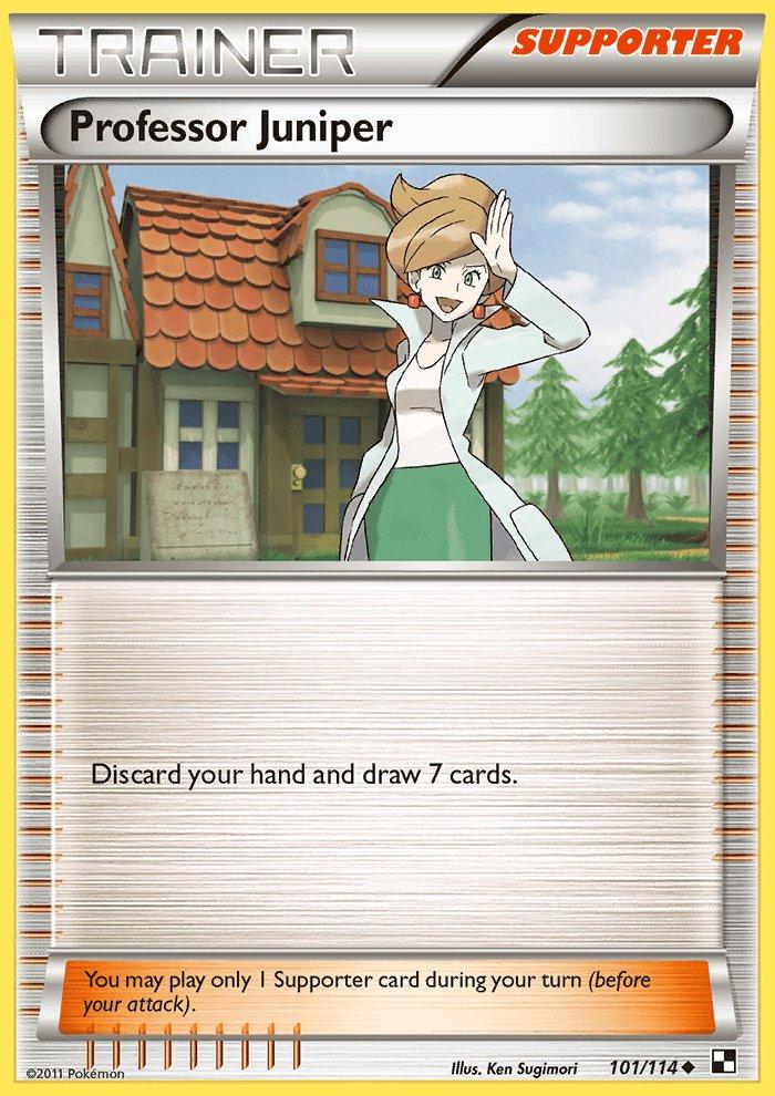 Pokemon Black & White Uncommon Card Professor Juniper 101/114