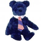 TY Beanie Babies POPS the Bear - USA Tie (MINT with tags)