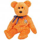 TY Beanie Babies DECADE the Bear - Orange (MINT with tags)