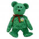 TY Beanie Babies DECADE the Bear - Green (MINT with tags)