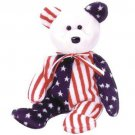 TY Beanie Babies SPANGLE the Bear - White Face (MINT with tags)